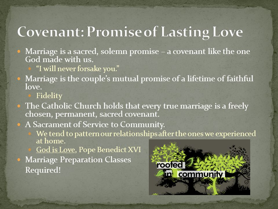 Covenant: Promise of Lasting Love