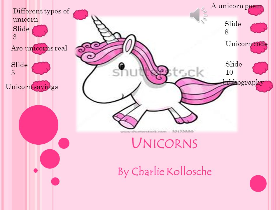 Unicorns By Charlie Kollosche A unicorn poem