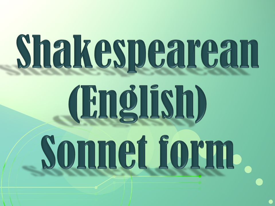 Shakespearean (English)