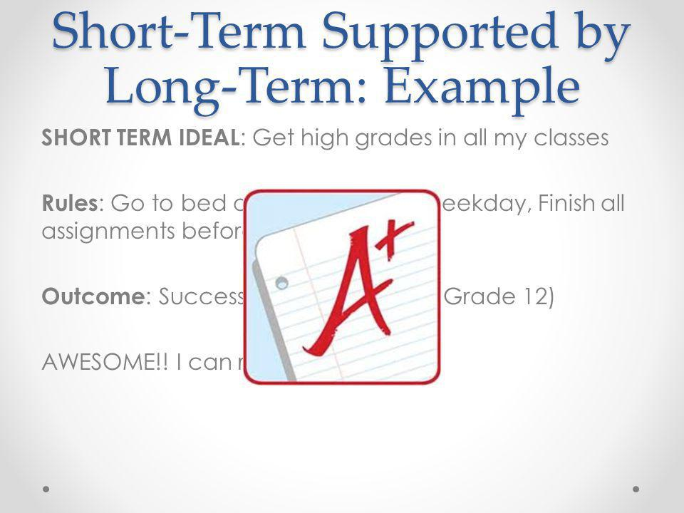Short-Term Supported by Long-Term: Example