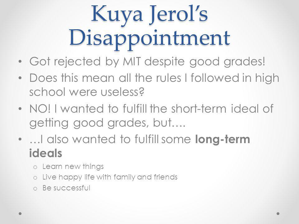 Kuya Jerol's Disappointment