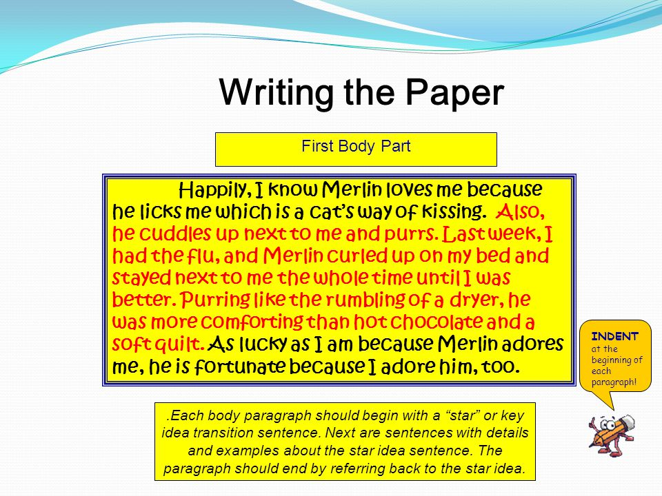 Writing the Paper First Body Part