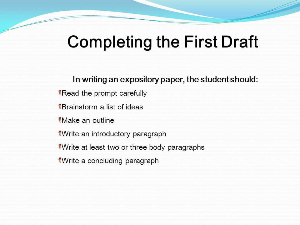 Completing the First Draft