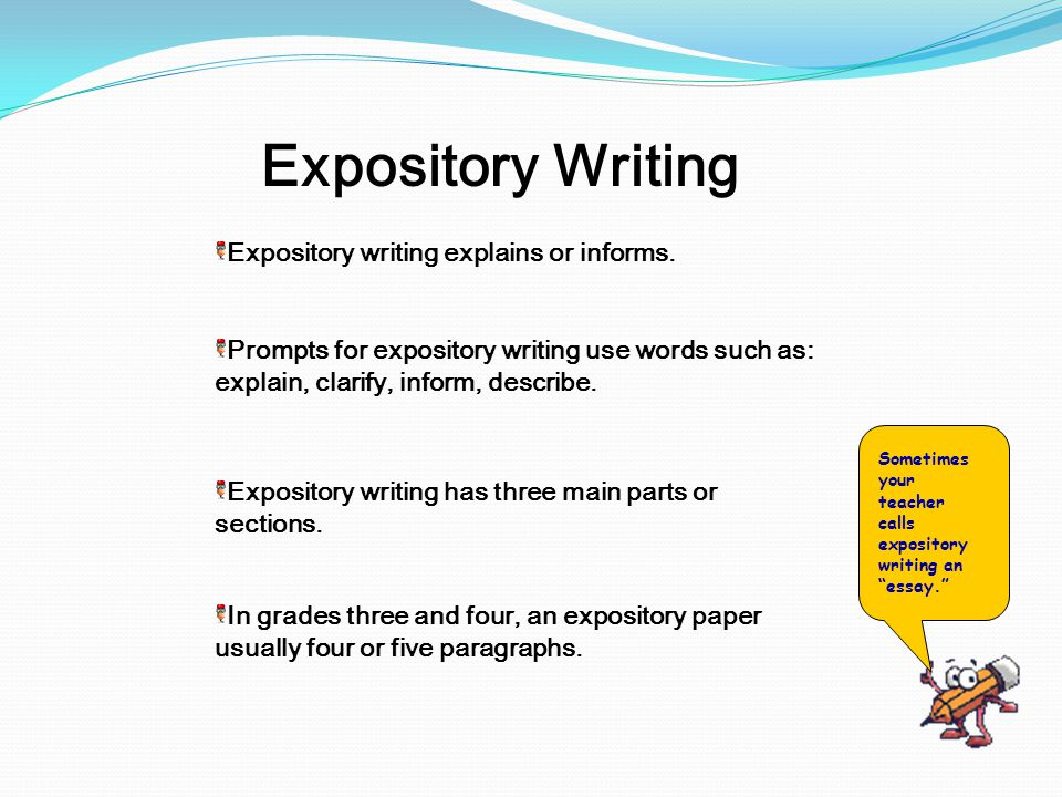 writing prompts for expository essay Given the task of writing an expository essay on dolphins, you need to think  outside  expository essay collection writing prompt scoring rubric mcas  scoring.