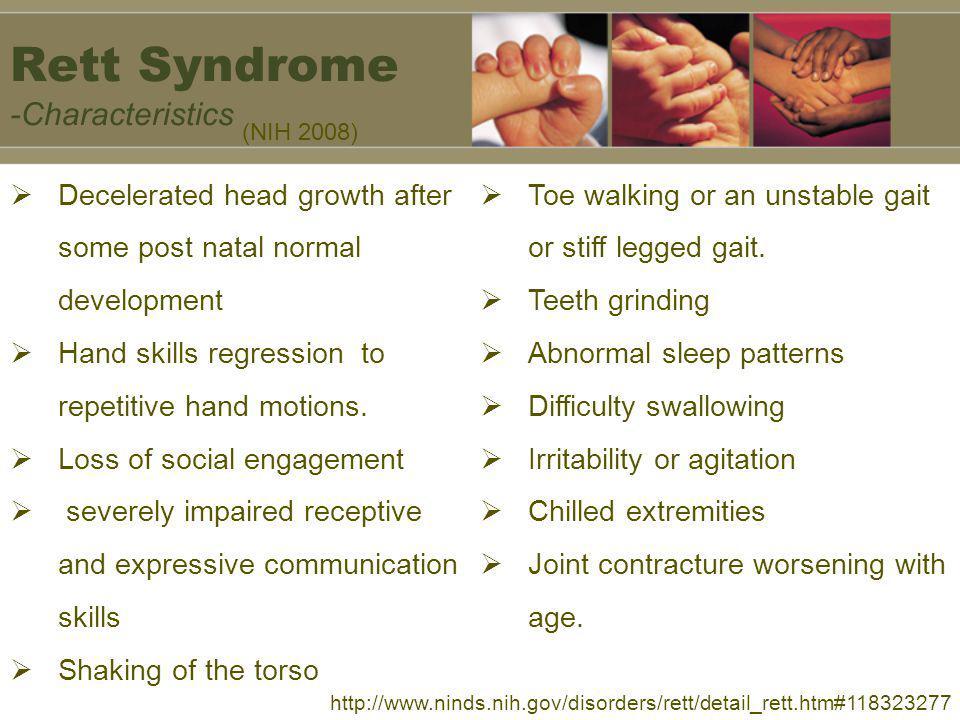 Rett Syndrome -Characteristics