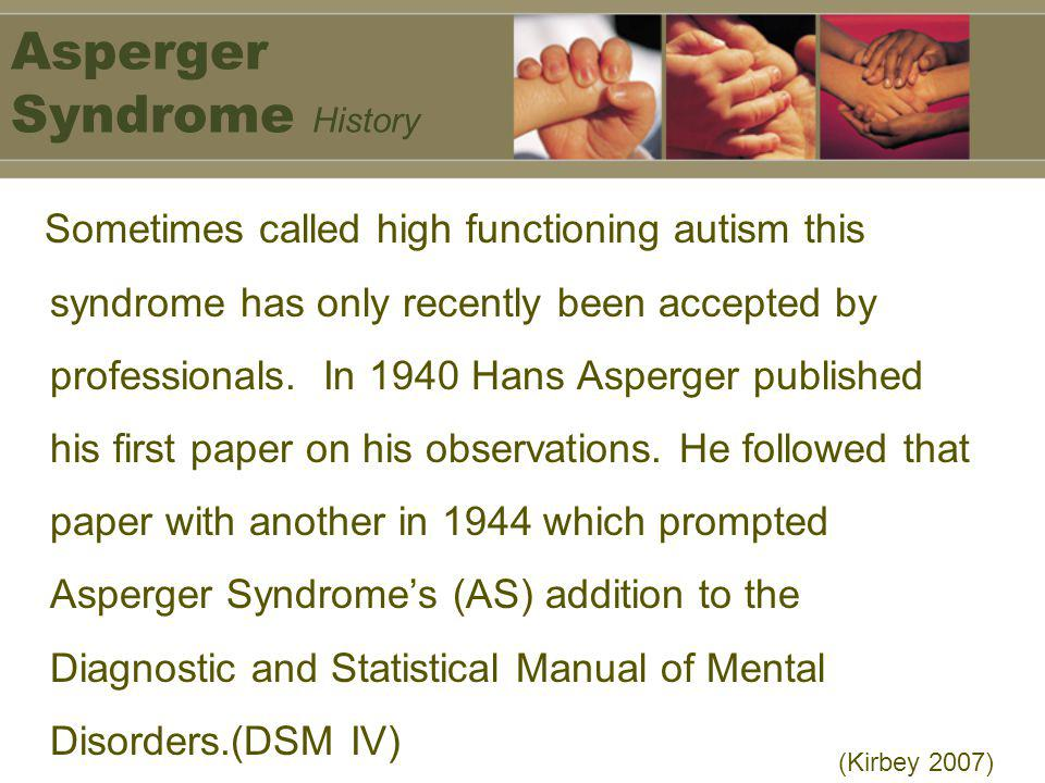 Asperger Syndrome History