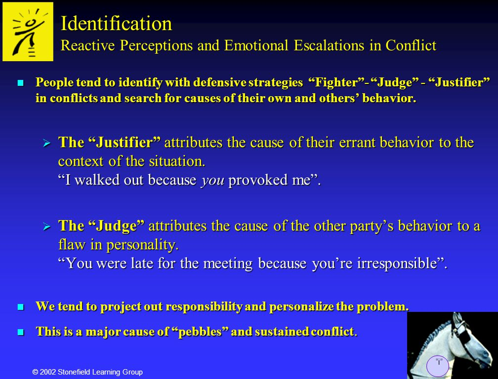 Agile Communications Identification Reactive Perceptions and Emotional Escalations in Conflict.