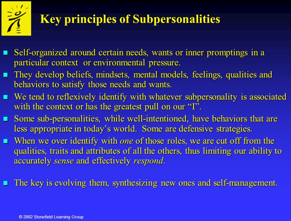 Key principles of Subpersonalities
