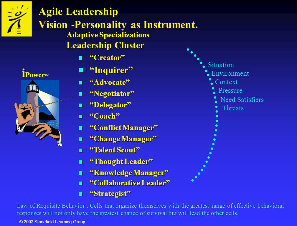 Agile Leadership Vision -Personality as Instrument.