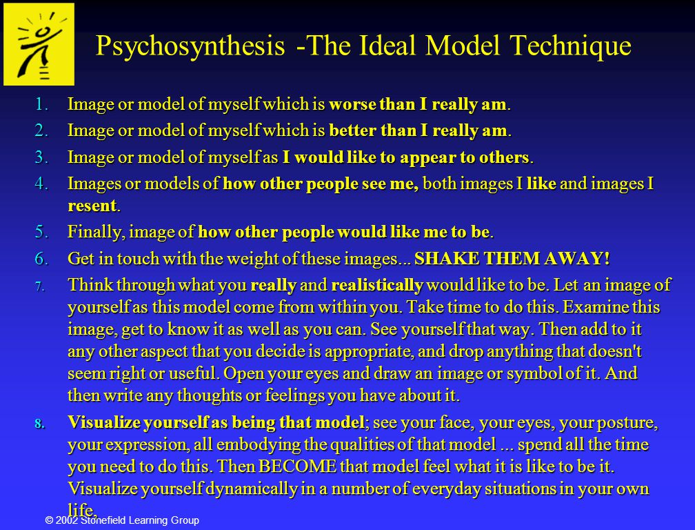 Psychosynthesis -The Ideal Model Technique