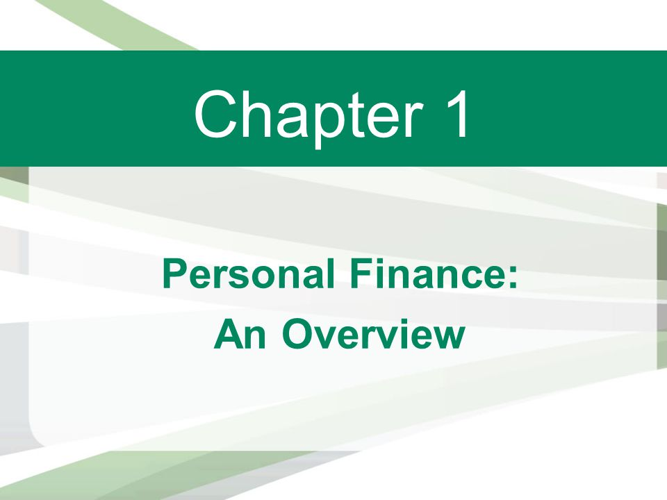 Personal Finance: An Overview