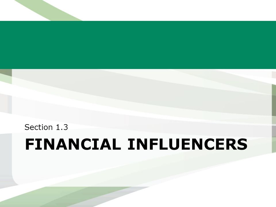 Financial influencers