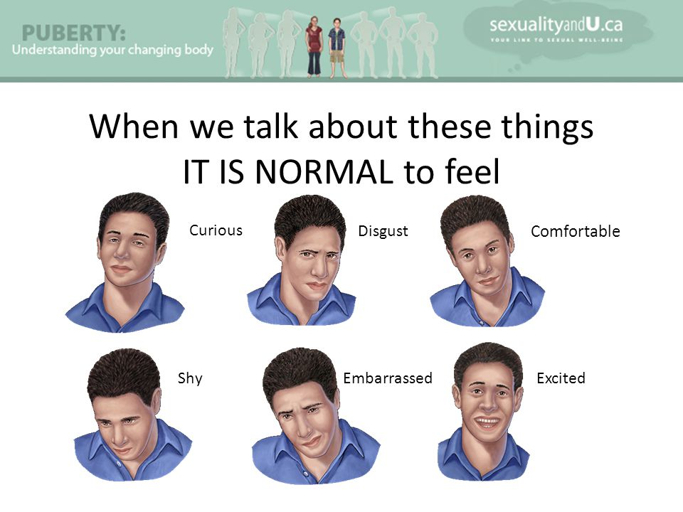 When we talk about these things IT IS NORMAL to feel