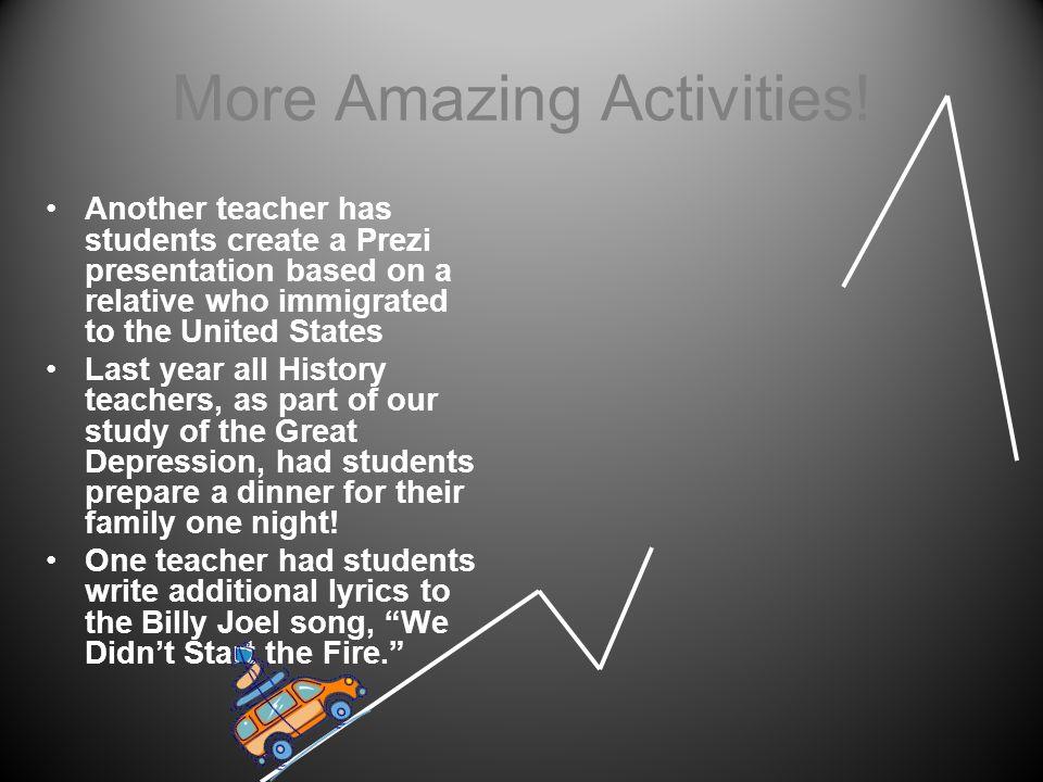 More Amazing Activities!