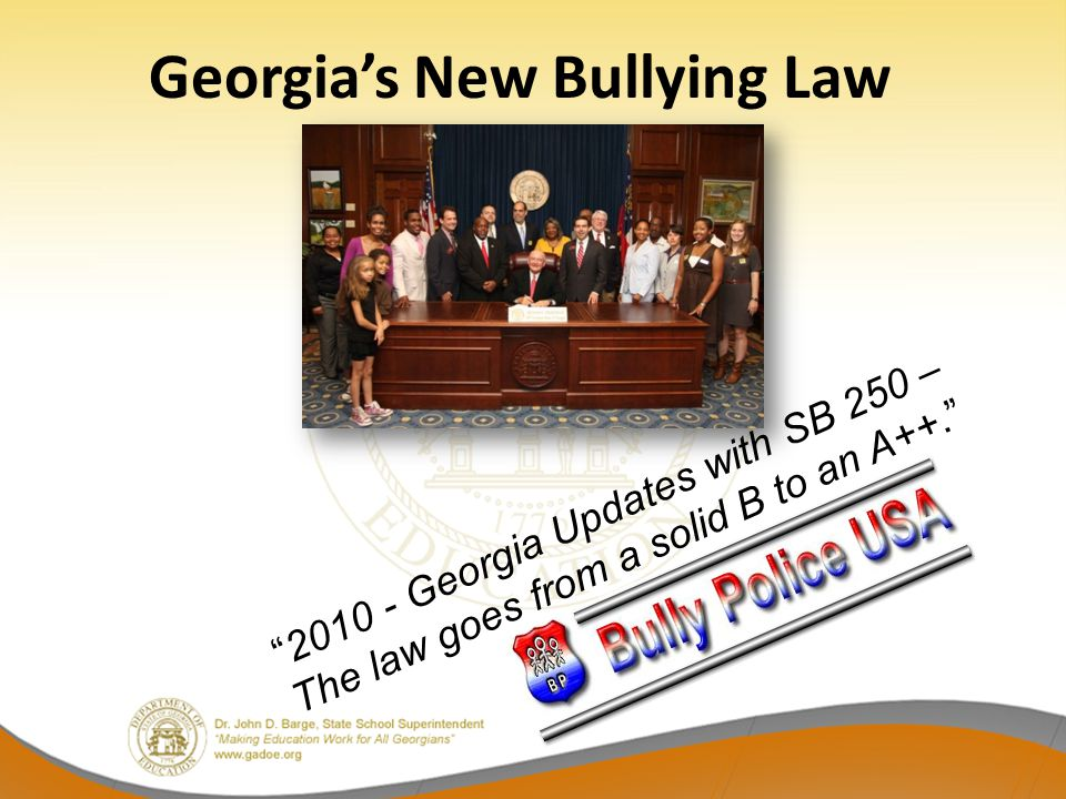 Georgia's New Bullying Law