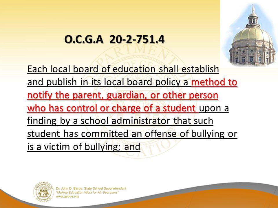 O.C.G.A 20-2-751.4