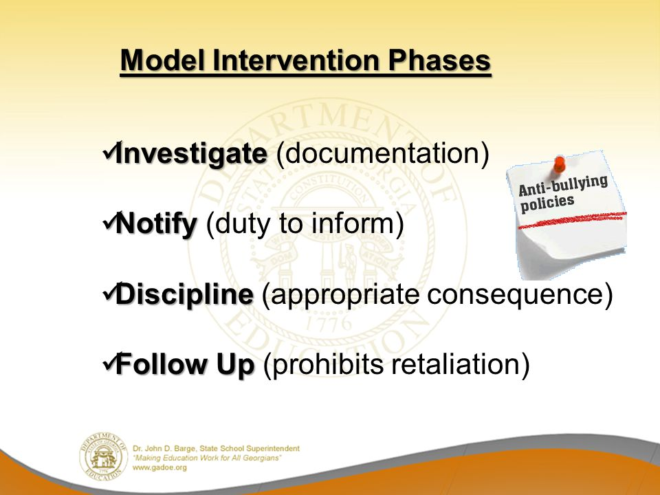 Investigate (documentation) Notify (duty to inform)