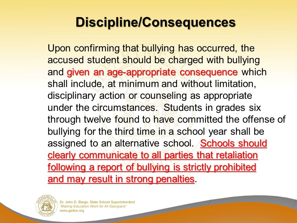 Discipline/Consequences