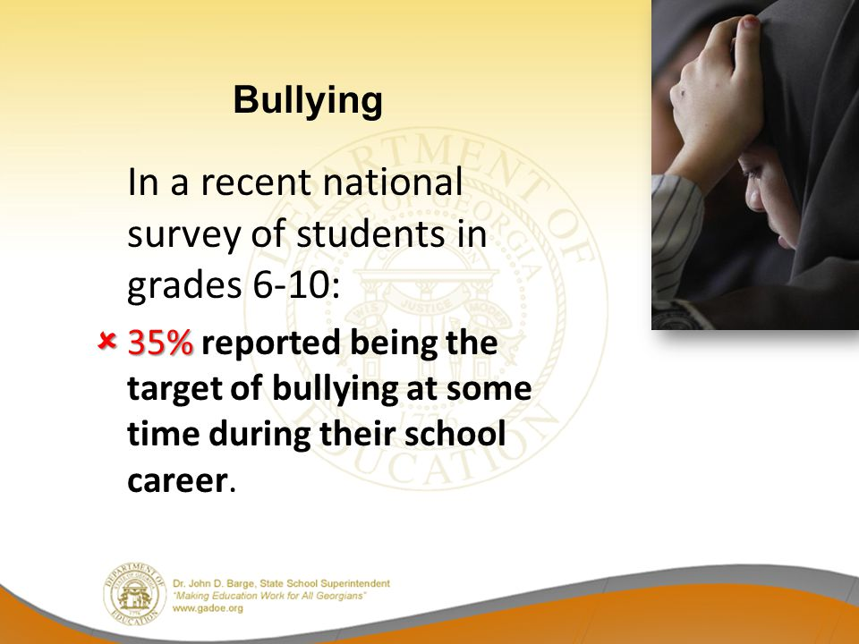 In a recent national survey of students in grades 6-10: