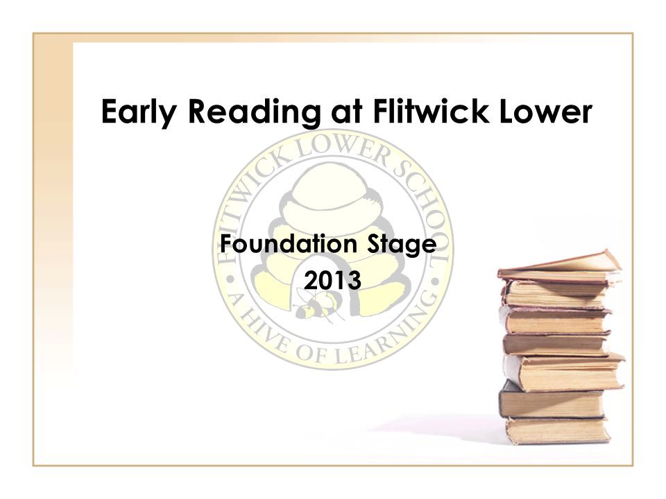 Early Reading at Flitwick Lower