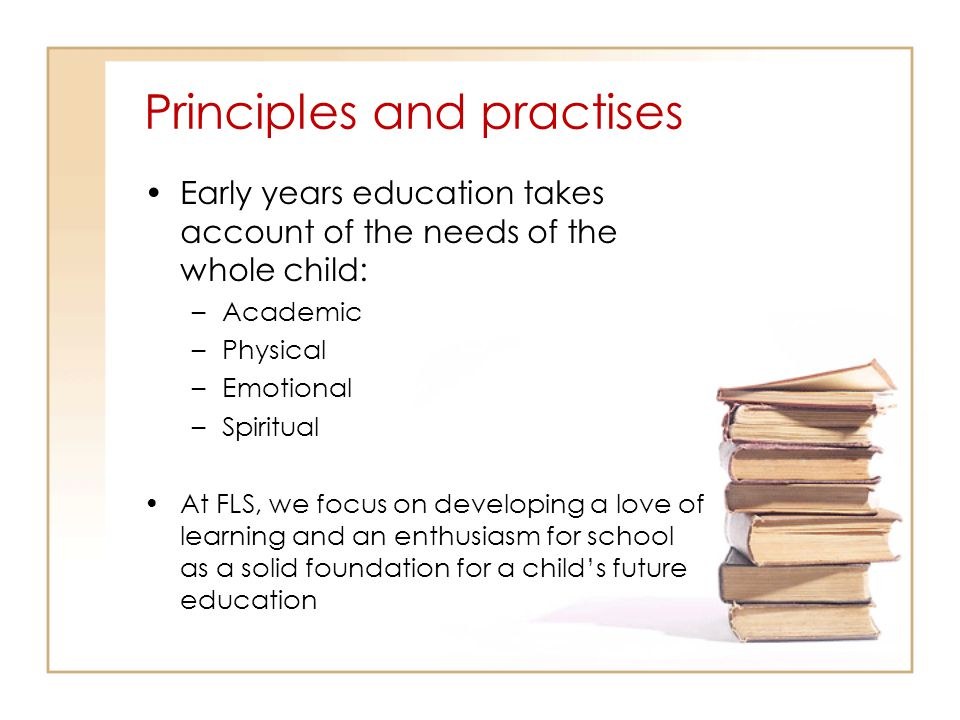 Principles and practises