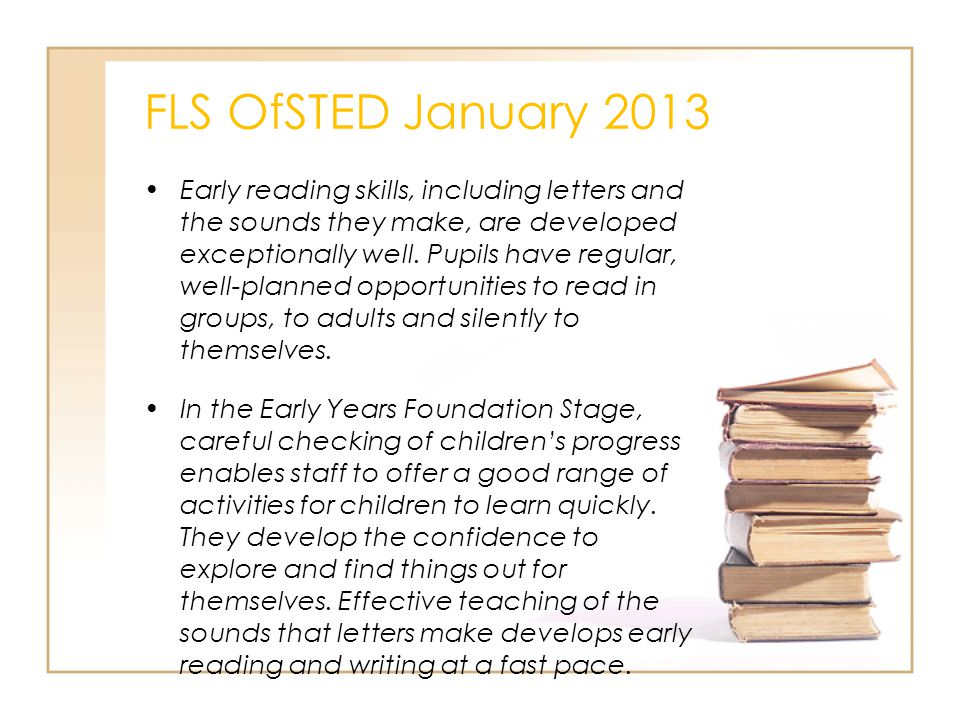 FLS OfSTED January 2013
