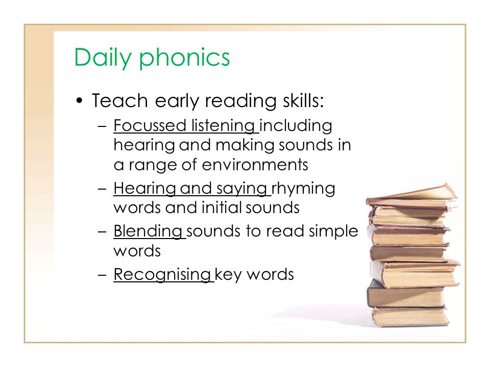 Daily phonics Teach early reading skills: