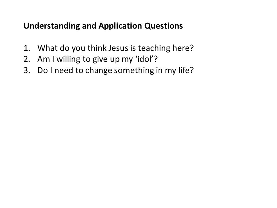 Understanding and Application Questions