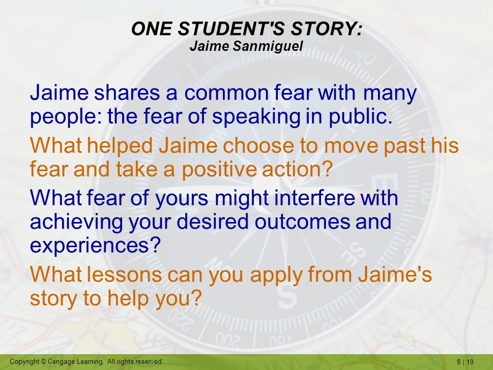 ONE STUDENT S STORY: Jaime Sanmiguel