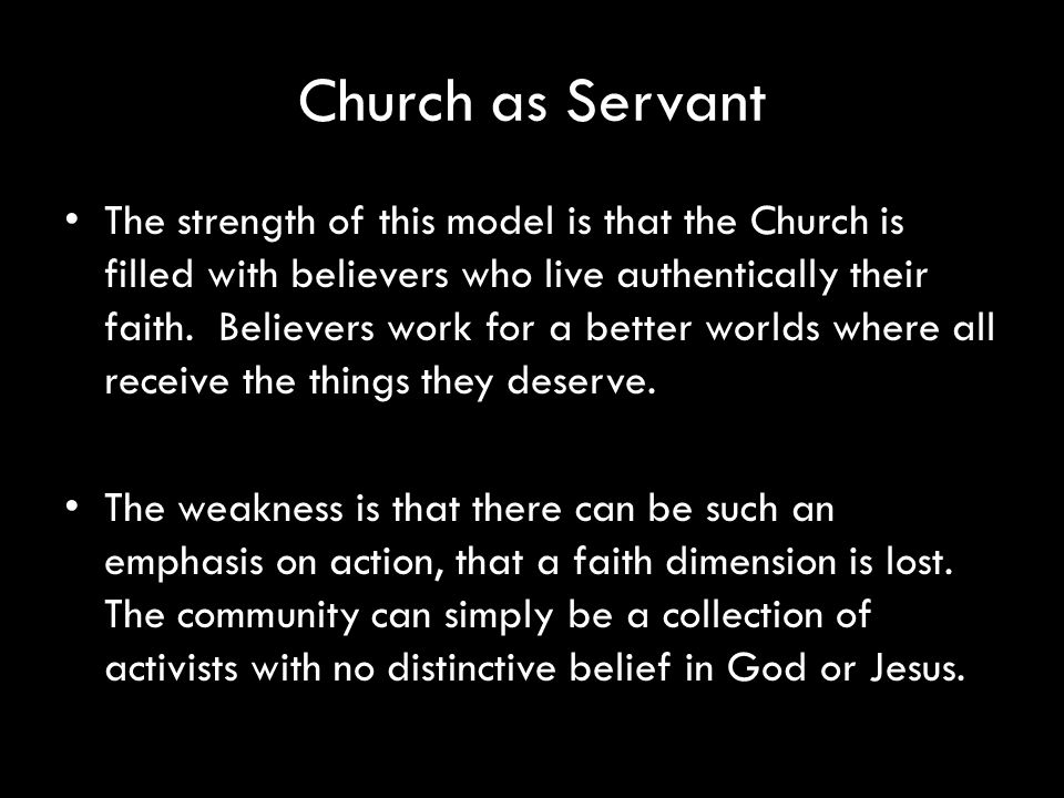 Church as Servant