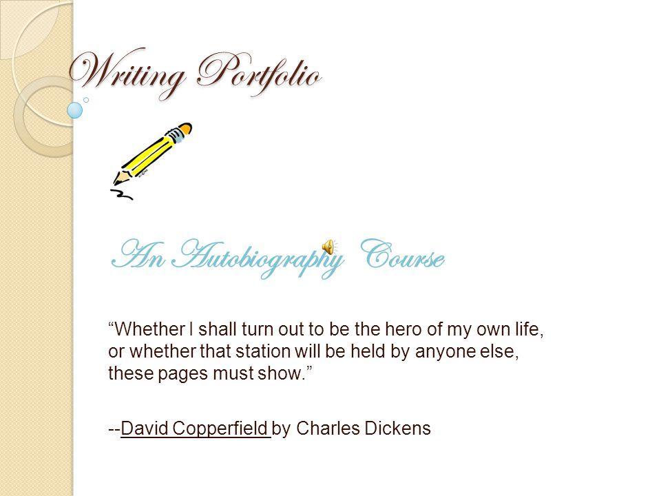 Writing Portfolio An Autobiography Course