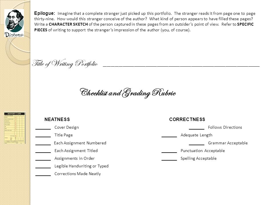 Checklist and Grading Rubric