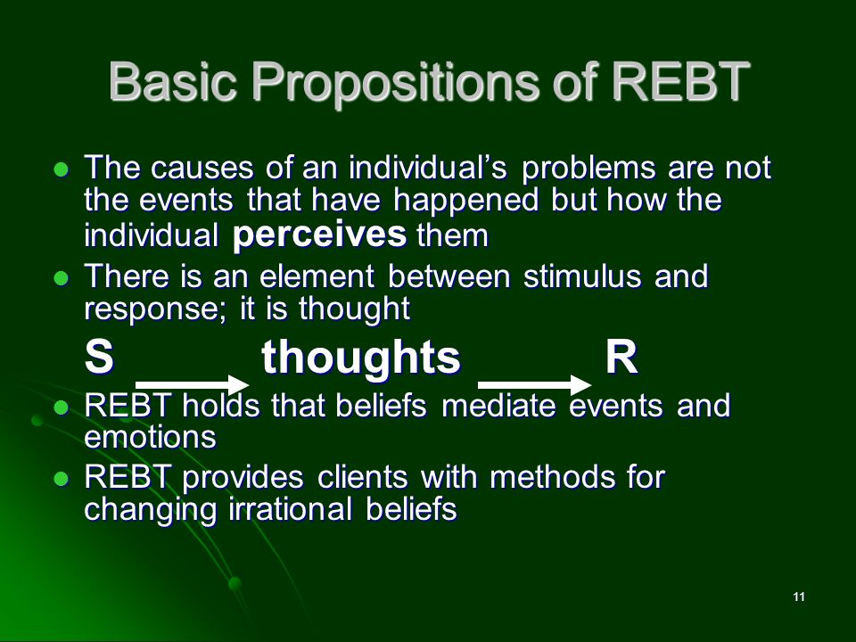 Basic Propositions of REBT