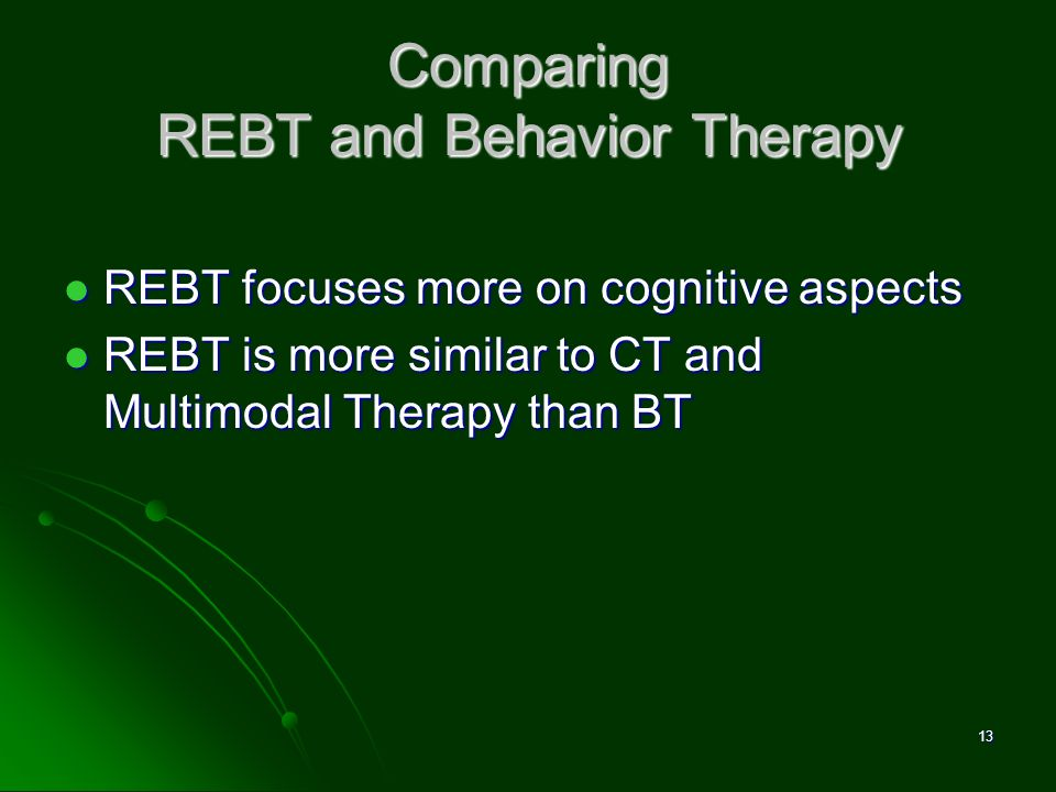 Comparing REBT and Behavior Therapy