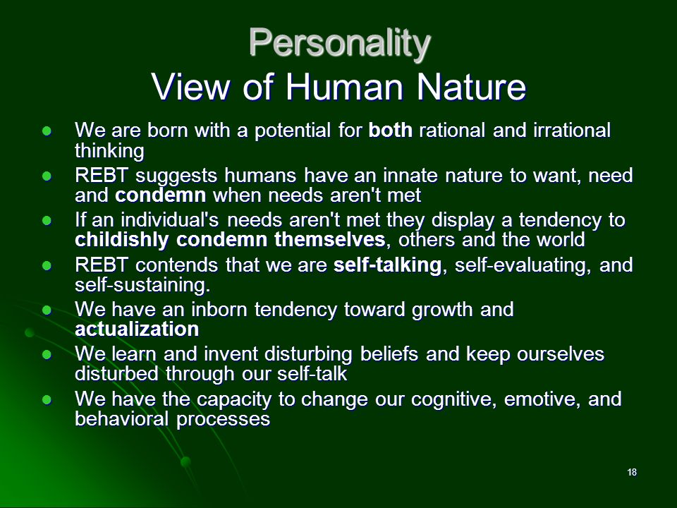 Personality View of Human Nature