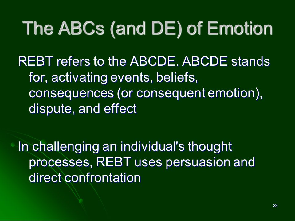 The ABCs (and DE) of Emotion
