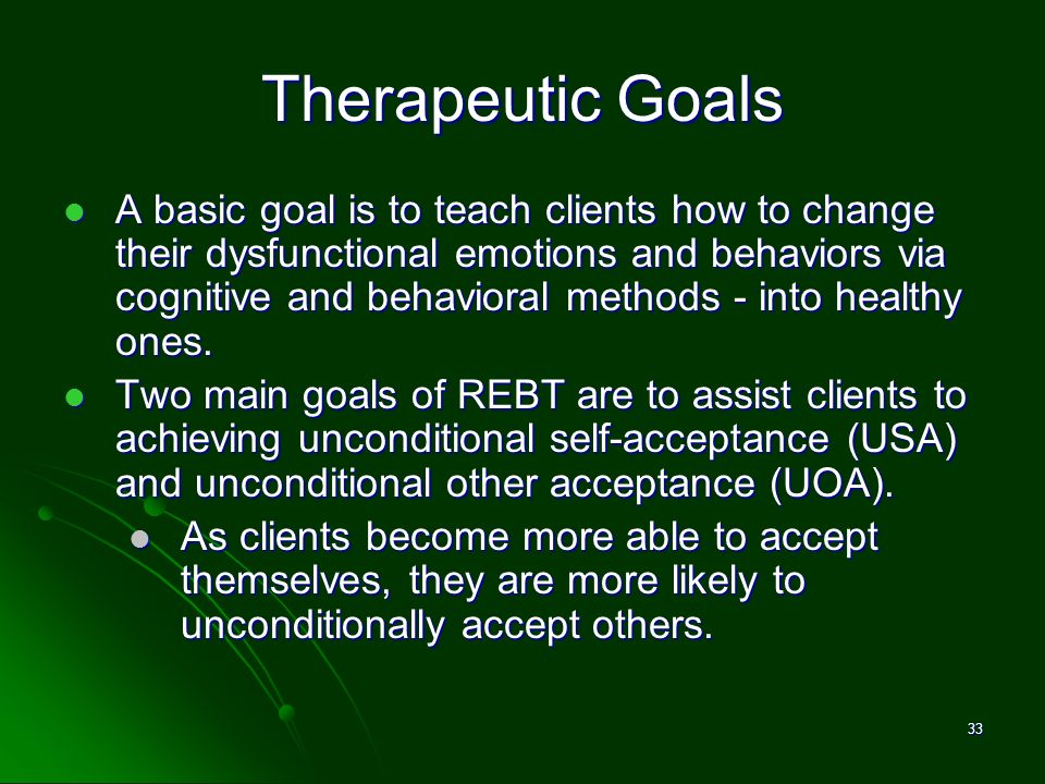 David M. Pittle, Ph.D. Therapeutic Goals.