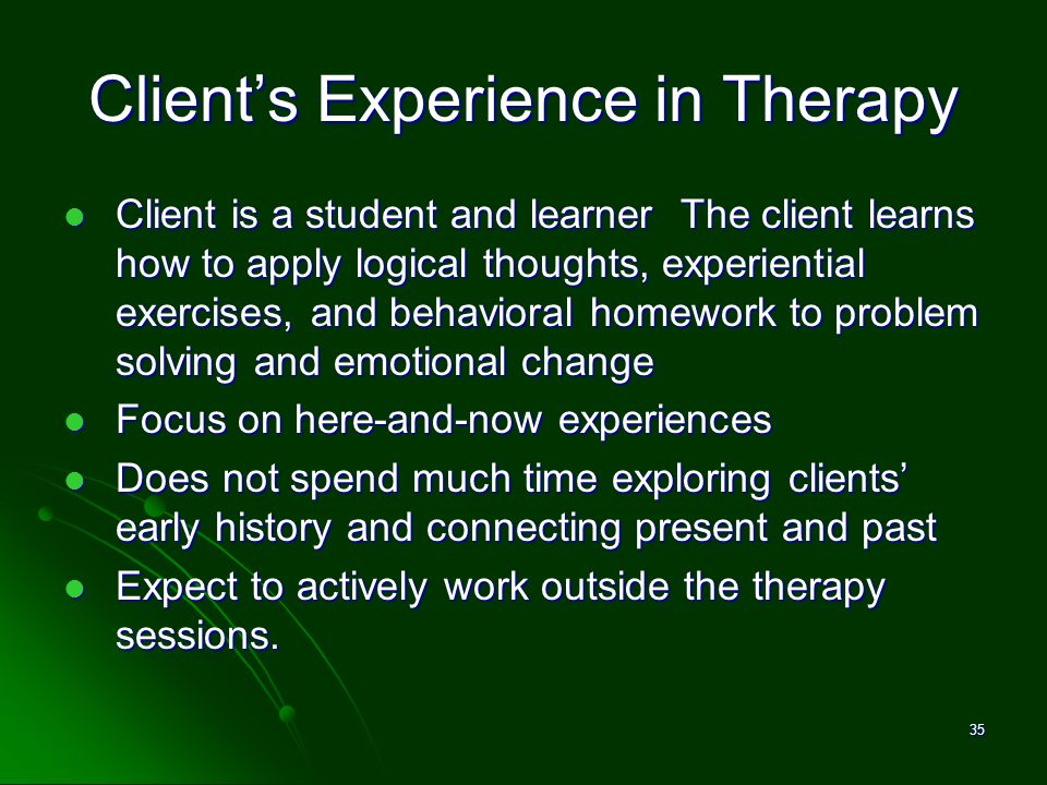 Client's Experience in Therapy