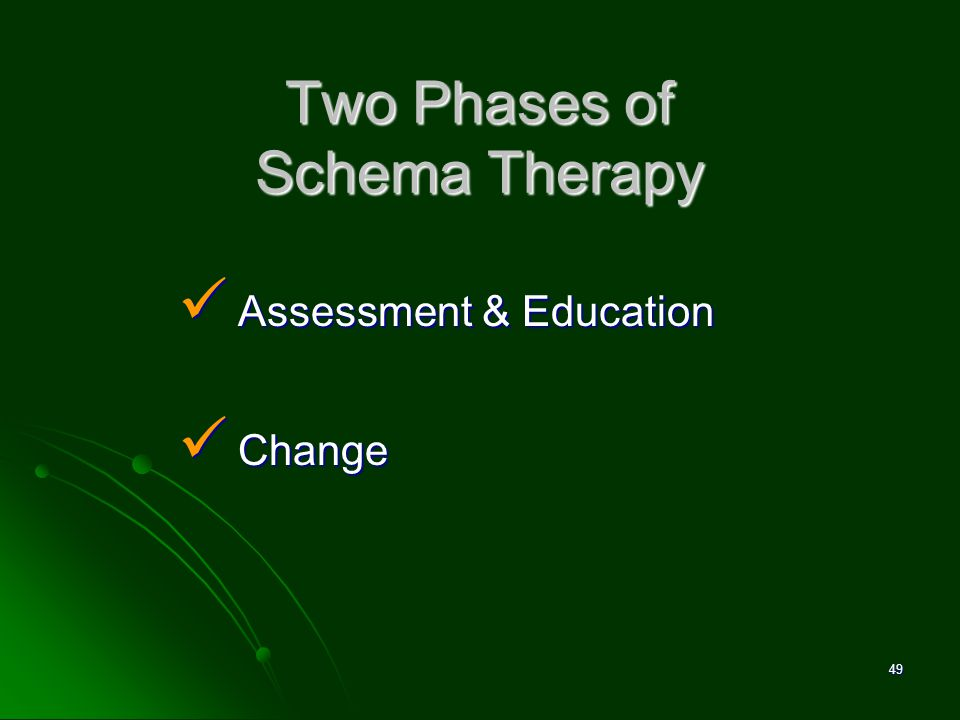 Two Phases of Schema Therapy