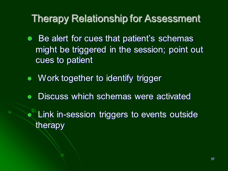 Therapy Relationship for Assessment