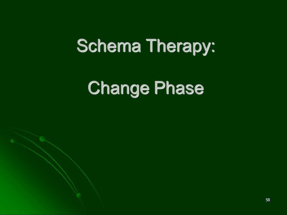 Schema Therapy: Change Phase