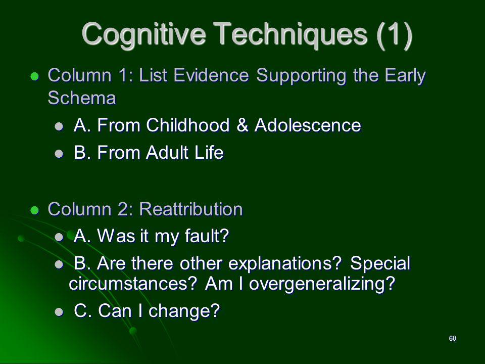 Cognitive Techniques (1)