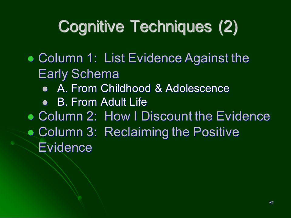 Cognitive Techniques (2)