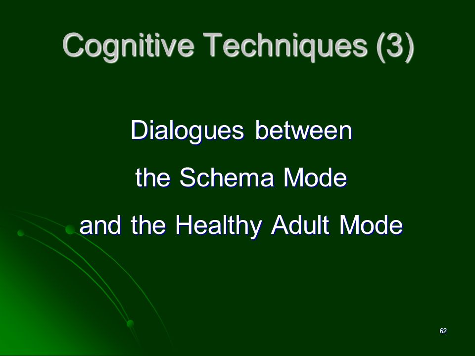 Cognitive Techniques (3)