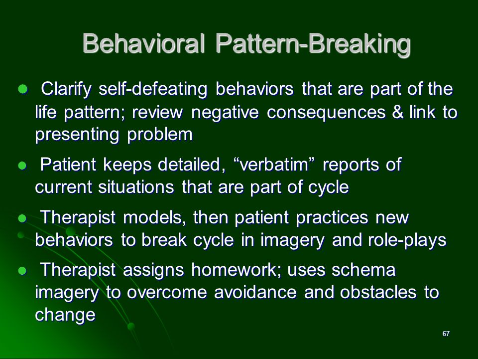 Behavioral Pattern-Breaking