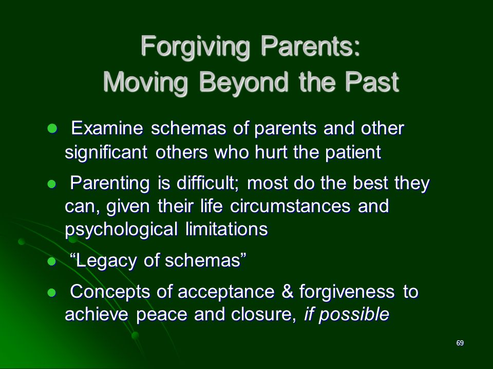 Forgiving Parents: Moving Beyond the Past