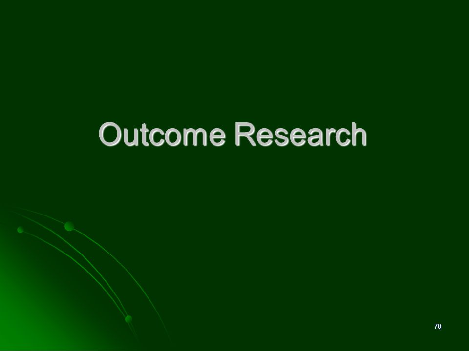 David M. Pittle, Ph.D. Outcome Research