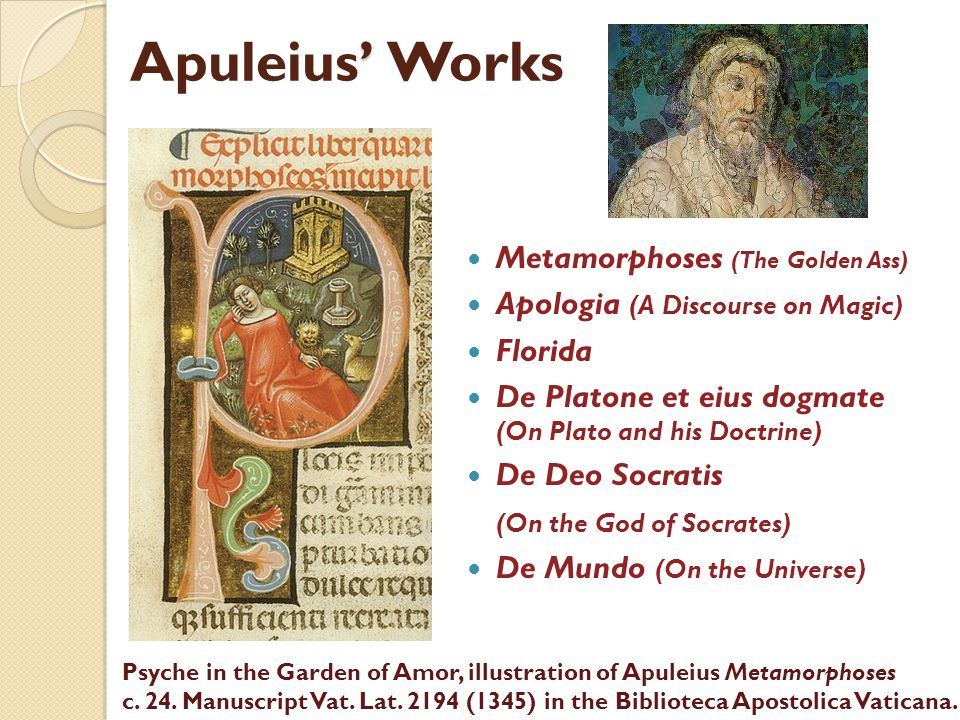 Apuleius' Works Metamorphoses (The Golden Ass)