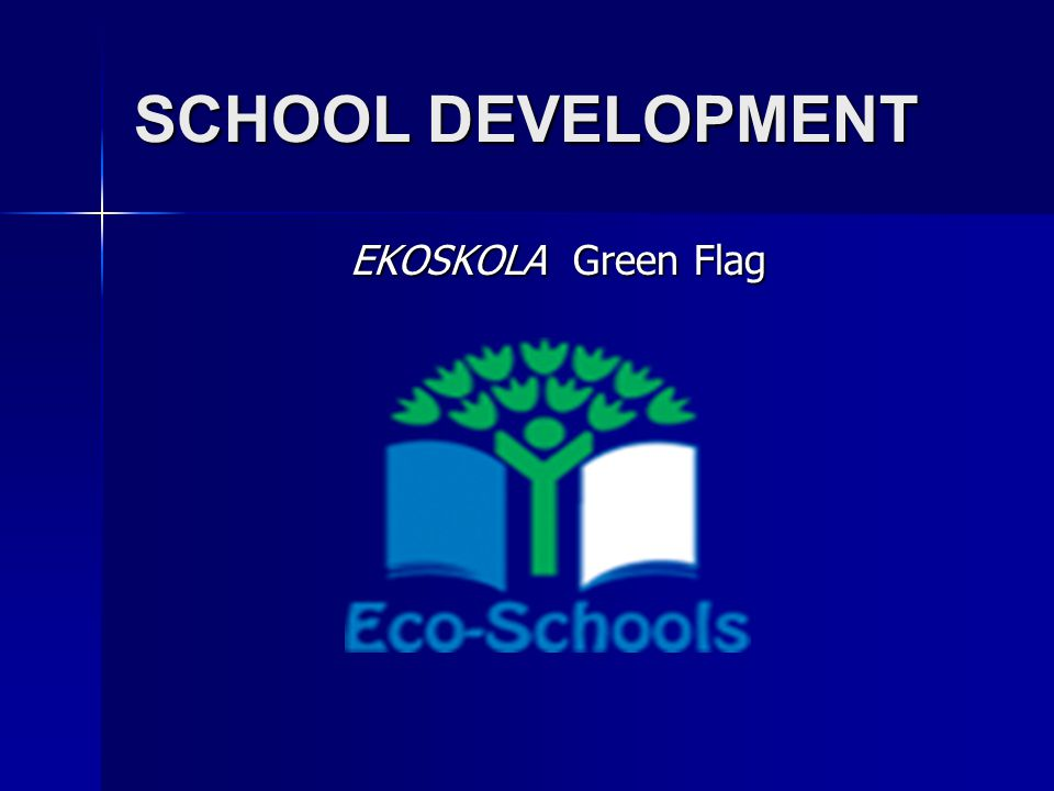 SCHOOL DEVELOPMENT EKOSKOLA Green Flag