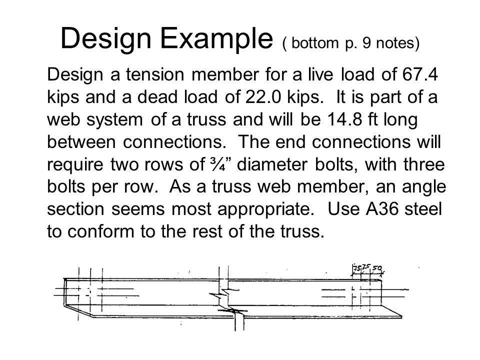 Design Example ( bottom p. 9 notes)